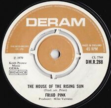 Frijid Pink ORIG UK 45 House of the rising sun EX 1970 Deram DMR288 Detroit rock