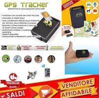 LOCALIZZATORE SATELLITARE GPS GSM GPRS ANTIFURTO TRACKER SOS TASCABILE TK 102
