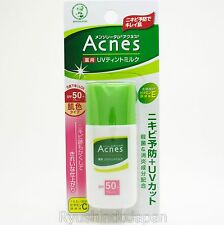 Mentholatum Acnes UV Tint Milk Sunscreen for Acne Care SPF50+ PA++ Vitamin C,E