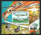 Avions Djibouti (28) bloc oblitéré