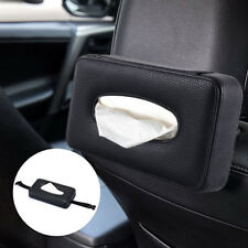 Car Luxury Back Seat Headrest Leather Tissue Paper Holder Auto Accessories New
