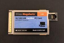 3Com Megahertz 10/100 Ethernet Xjack Connector Lan Network Pc Pcmcia Card
