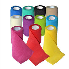 11 X First Aid Self-Adhesive Bandage Wound Bind DressGauze 7.5cm*4.5m 11 Colours