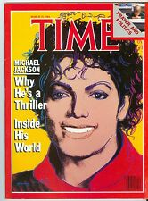 MAGAZINE TIME michael jackson  THRILLER Andy Warhol   MARCH 19 1984