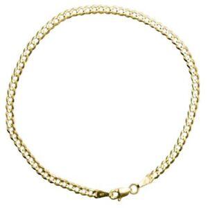 """GOLD AUTHENTIC 10K SOLID GOLD MEN/WOMEN CUBAN LINK BRACELET SIZE 7""""-9"""" FREE SHIP"""