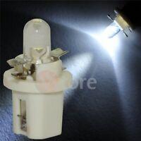 2 LED T5 B8.5D BIANCO Lampade Lampadine Per Cruscotto Luci Quadro Strumenti 180°