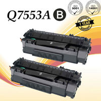 2PK Black Q7553A 53A Toner Cartridge For HP Laserjet P2014 P2015 P2015DN M2727NF