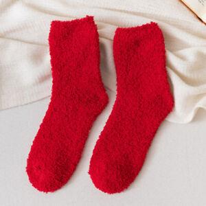 6 Pairs Ladies Girls Winter Warm Soft Fluffy Bed Sock Lounge Slipper Fleece Sock