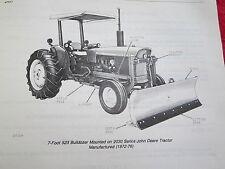 1980 Jd John Deere 523 Agricultural Bulldozer Tractor Blade Parts Catalog Manual