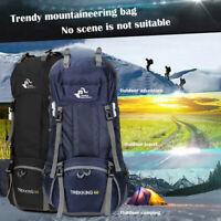 60L Camping Waterproof Travel Rucksack Mountaineering Outdoor Backpack Hiking US