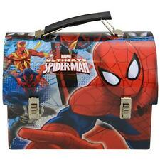 Ultimate Spiderman Utility Tin Lunch Box with Latch and Handle Food Container