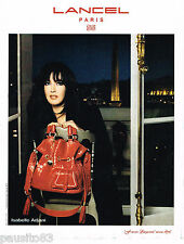 PUBLICITE ADVERTISING 065  2008  LANCEL boutique sacs FRENCH LEGERETE  I. ADJANI