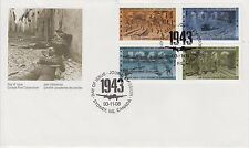 CANADA #1503-1506 43¢ SECOND WORLD WAR 1943 FIRST DAY COVER - A