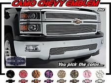 CAMO 2X Universal Vinyl Sheet Decal Sticker Overlay for Chevy Bowtie Emblems