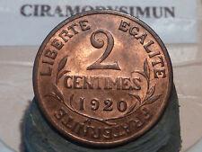 CIRA(53)(18) - 2 CENTIMES - DUPUIS - 1920 - RARE QUALITE SPL/FDC !
