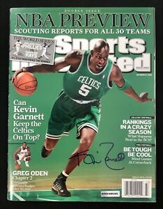 Kevin Garnett Signed Sports Illustrated Mag 11/23/08 No Label Celtics Auto UDA