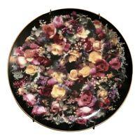 Rare 1992 Vintage Limited Summer Bounty Plate Rose Wreaths Flower Knox Robertson