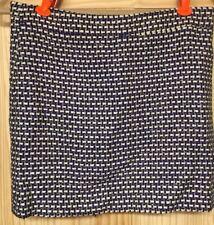 Jcrew Womens Size 0 Tweed Shiny Purple Gold silver Skirt silk/Cotton EUC Career