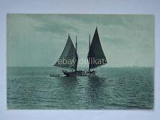 COMO barca a vela vecchia cartolina sailing boat