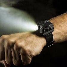 Outdoor Chargeable LED Light Wrist Watch with Compass Flashlight Hand Torch Lamp