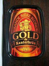 Vintage Années 80 Plateau De Service GOLD De KANTERBRÄU Bière Blonde En Métal