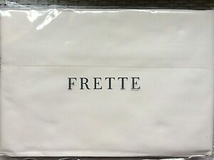 "FRETTE Italy Luxury Percalle Duvet Cover KING IVORY NEW 104""x91"" cotton"