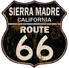 SIERRA MADRE, CALIFORNIA Route 66 Shield Metal Sign Man Cave Garage 211110014064