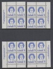 CANADA #593 8¢ Queen Elizabeth II Match Set Plate #5 Blocks MNH