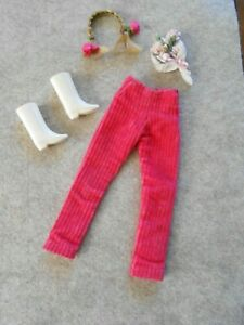 Vintage Barbie Francie  Doll GROOVY GET UPS Pink Pants-Braided Headband-Boots &