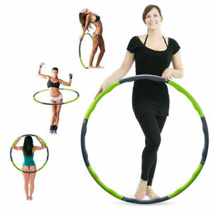 HULA HOOP PROFESSIONAL WEIGHTED MAGNETIC FITNESS EXERCISE MASSAGER WORKOUT 1.2KG