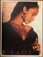 Original Vintage Poster Sade Adu 80s Music Memorabilia pinup singer songwriter