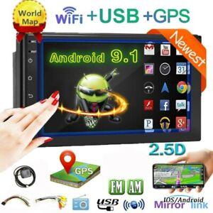 "7"" 2Din Android 9.1 autoradio GPS SAT NAVI Radio MP5 Player BT USB Mirror Link"
