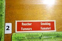 Alter Aufkleber Tabak Zigaretten Beschriftung RAUCHER SMOKING FUMEURS FUMATORI