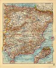 Antique map Spain Spanje Spanien Catalonia 1939