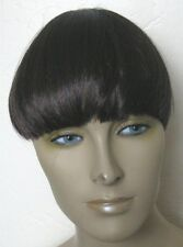 dark brown clip in on fake fringe bangs hair extension hair piece fancy dress ne