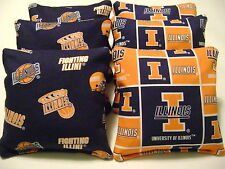 8 Cornhole Bean Bag Corn Hole Baggo University Of Illinois Fighting Illini Bp