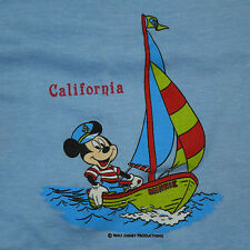 Vtg '80s Screen Stars Mickey Mouse California Sailing T-Shirt Youth or Wmns XS/S