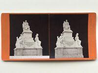 Florence Monumento Demidov Italia Fotografia Stereo Vintage Albumina