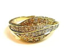 RING GOLD ORO AMARILLO 51 (16,2 mm Ø ) 585/14K 20 Brillantes 0 , 20 Quilates