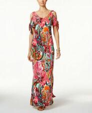 cd7c7fc650d Msk Woman  s Cold-Shoulder Paisley Print Maxi Dress Size 4
