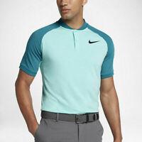 Nike Golf Light Aqua Blustery 833079-446 Raglan Shirt Mens Slim-Fit NWT