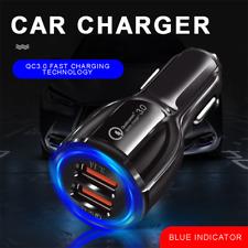 QC 3.0 Dual USB Car Socket Fast 12V Charger Cigarette Lighter Power Adapter Plug
