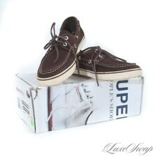 NIB Brooks Brothers x Superga Chocolate Suede Deck Boat Moccasin Shoes 8 M #21