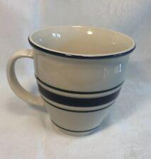 Country Crock Stoneware Mug Cup Tienshan Blue Green Bands