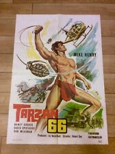 TARZAN AND THE VALLEY OF GOLD Film JUNGLE Movie Poster MIKE HENRY NANCY KOVACK