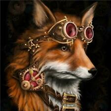 aus seller..DIY 5D DIAMOND PAINTING KIT..STEAMPUNK FOX....full drill 30 x 30