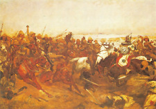 Military Art Postcard The Charge of the 21st Lancers at Omdurman Woodville #14-4
