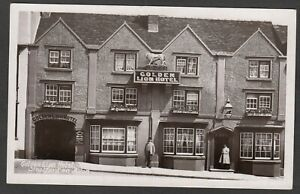 Postcard Stratford on Avon the Golden Lion Hotel early RP by Harvey Barton