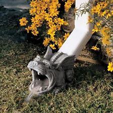 Gargoyle Sculpture Rain Garden Downspout Gutter Guardian Outdoor Decor