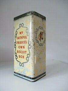 Vintage Spratt's Biscuit Box dog treats tin